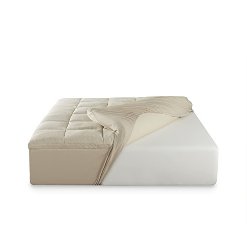 Keetsa 3 Inch Luxury Thick Comfort & Plush Memory Foam...