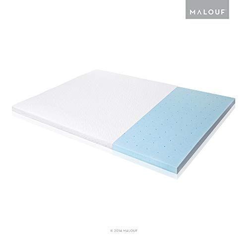 ISOLUS Ventilated Gel Memory Foam Mattress Topper,...
