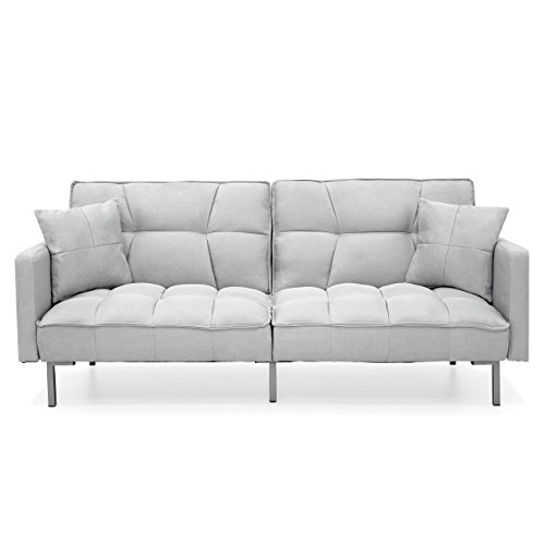 Best Choice Products Linen Upholstered Tufted...
