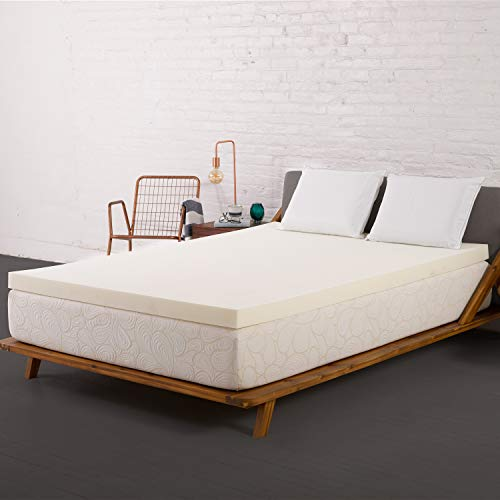 SleepJoy 3-Inch ViscO2 Memory Foam Mattress Topper with...