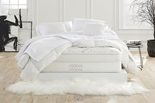 Saatva Luxury Innerspring Mattress, Queen Lux Firm, 120...