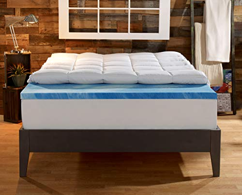 Sleep Innovations Gel Memory Foam 4-inch Dual Layer...