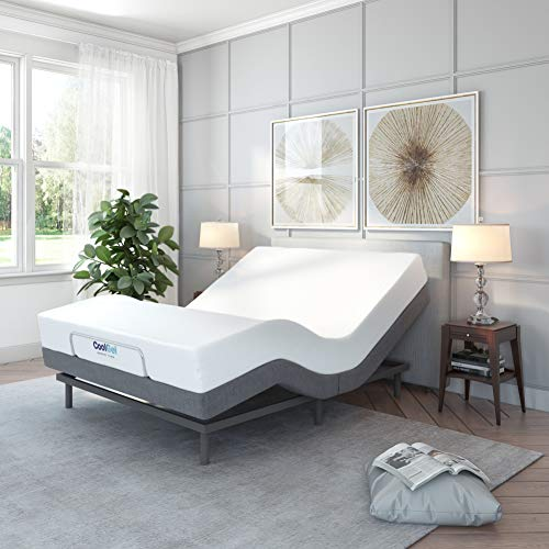 Classic Brands Comfort Upholstered Adjustable Bed Base...