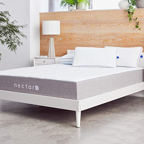 Nectar Queen Mattress + 2 Pillows Included - Gel Memory...