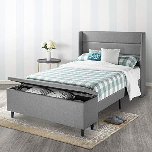 Mellow Platform Bed with Headboard and Bedside Storage...