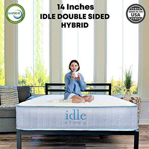 Idle Sleep 14 Inch Twin XL Double Sided Hybrid Mattress...