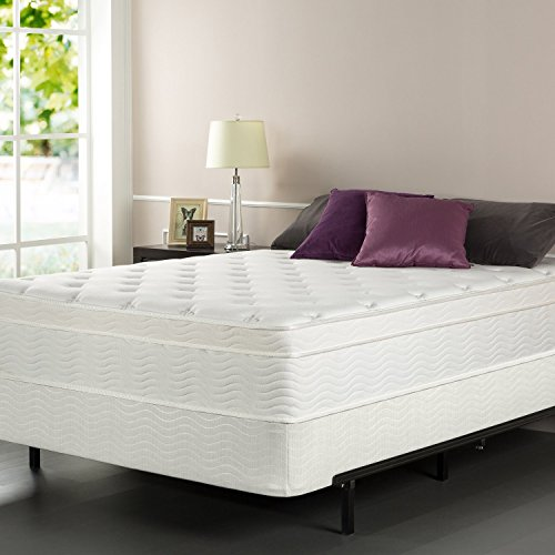 Zinus iCoil 13 Inch Euro Top Spring Mattress and BiFold...