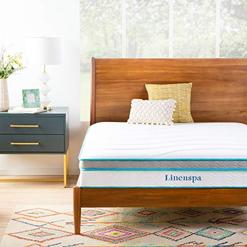 Linenspa 10 Inch Memory Foam and Innerspring Hybrid...