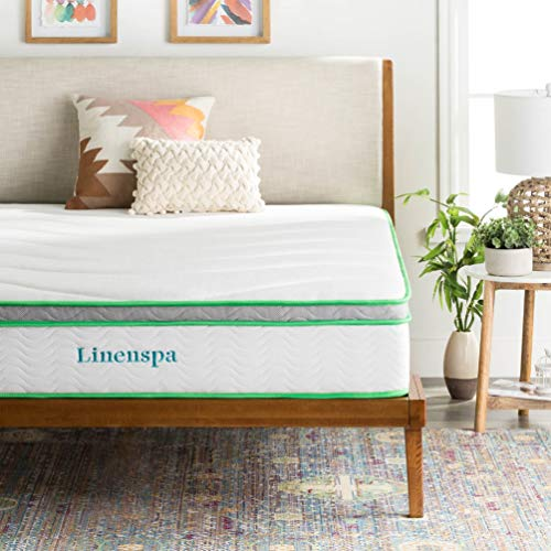 LINENSPA 10 Inch Latex Hybrid Mattress - Supportive -...