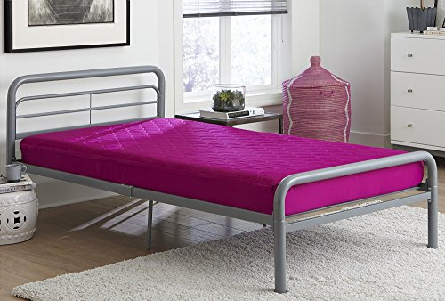 DHP 6' Quilted Top Bunk Bed Mattress, Twin, Pink