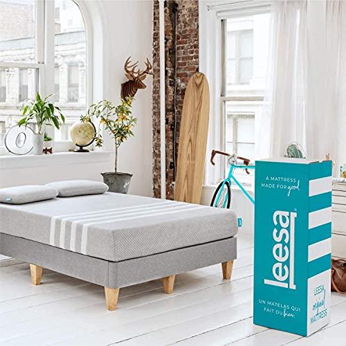 Leesa Original 10' Mattress Memory Foam Bed-in-a-Box,...