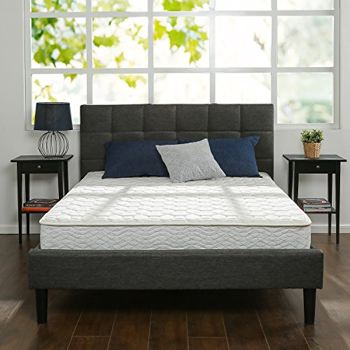 Zinus 8 Inch Hybrid Green Tea Foam and Spring Mattress,...