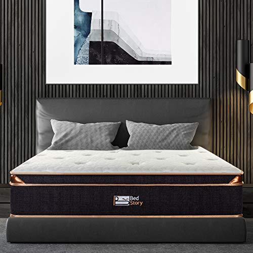 BedStory Queen Mattress, 12 Inch Gel Memory Foam Pocket...