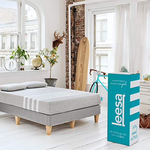 Leesa Box Mattress, King, Gray & White