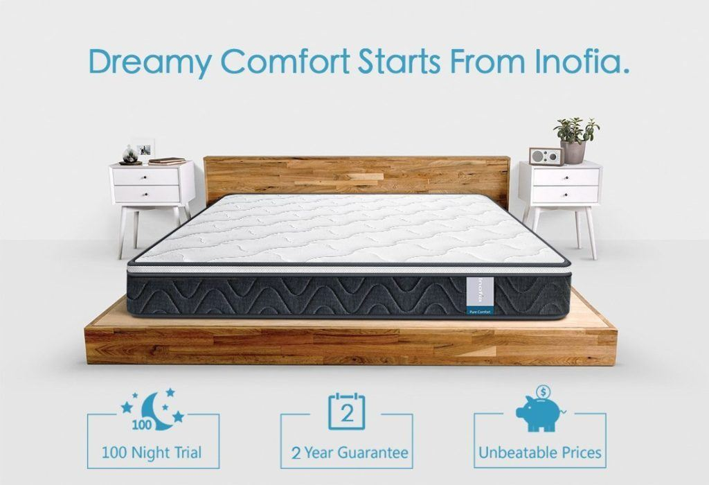Inofia Innerspring Hybrid Mattress- Best Innerspring Mattress 2019