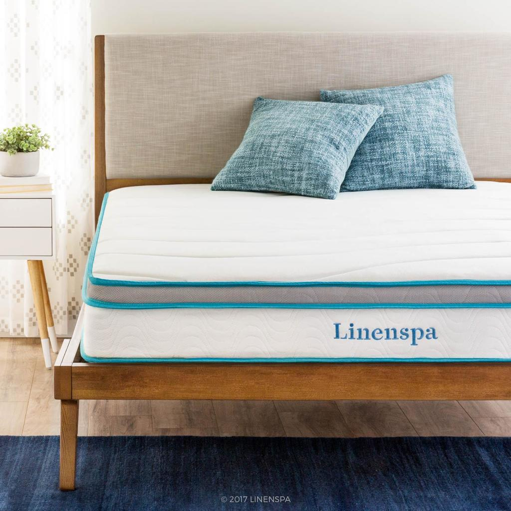 Linenspa 8-Inch Memory Foam Hybrid Mattress- Price Under $200